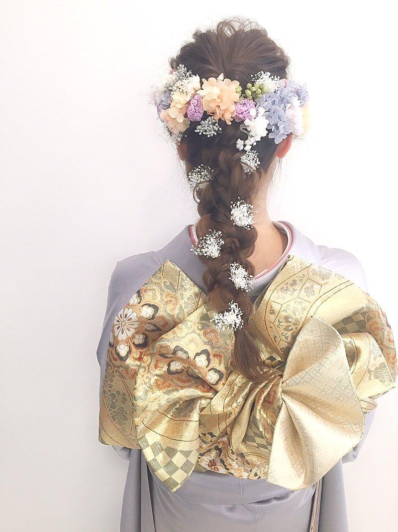 ◆成人式◆造花カジュアルアレンジ