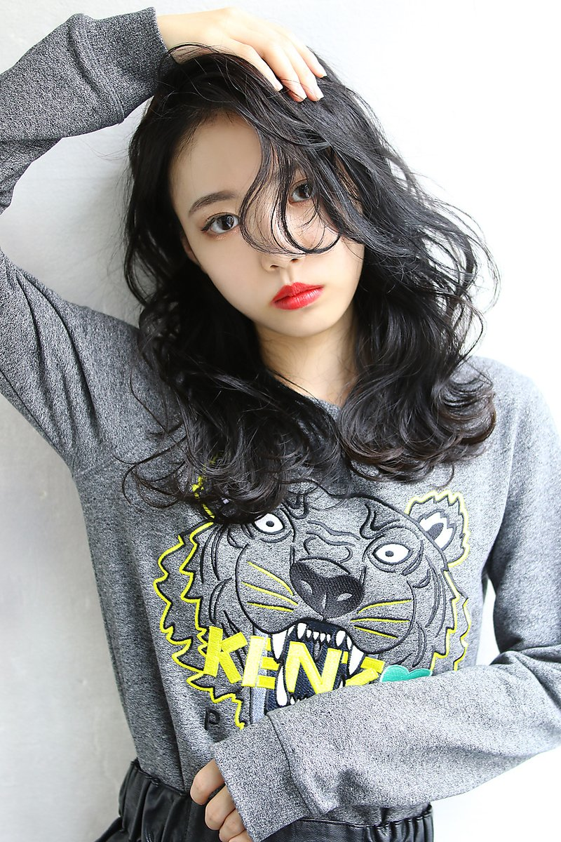 【Blanc/茶屋町】暗髪 ネイビーカラー 黒髪 グレージュ /mil
