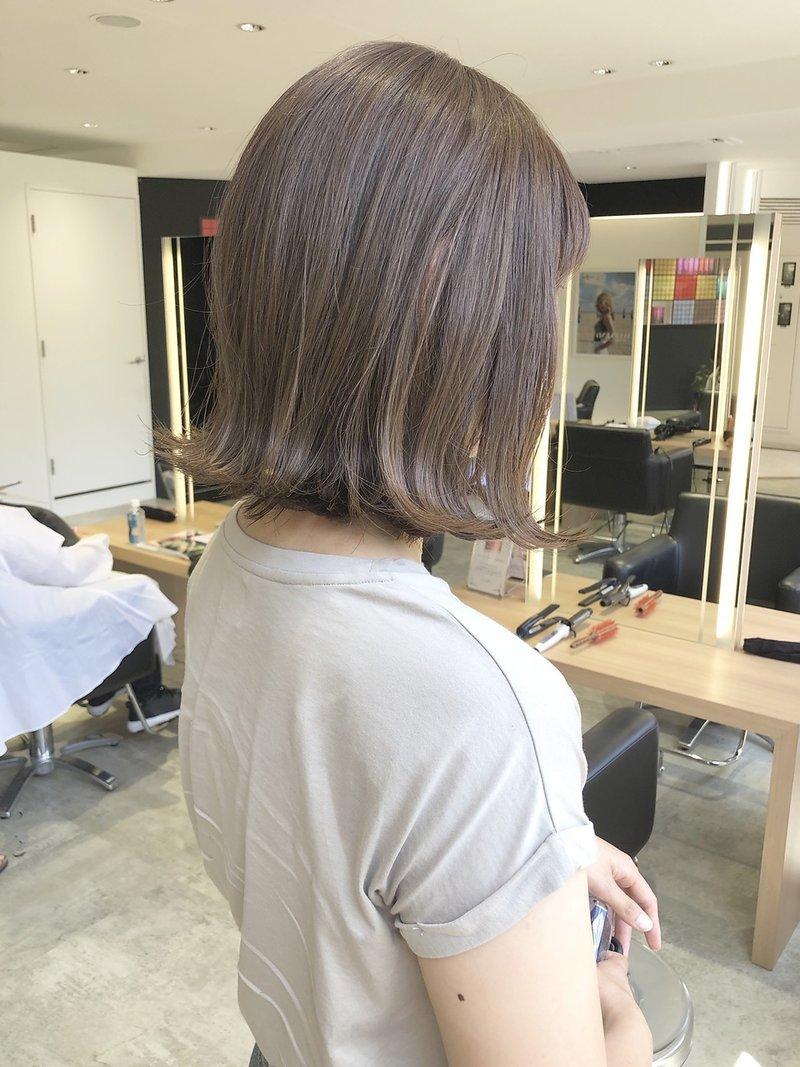 【mod's hair 仙台長町店】切りっぱなしボブ(越後裕介)