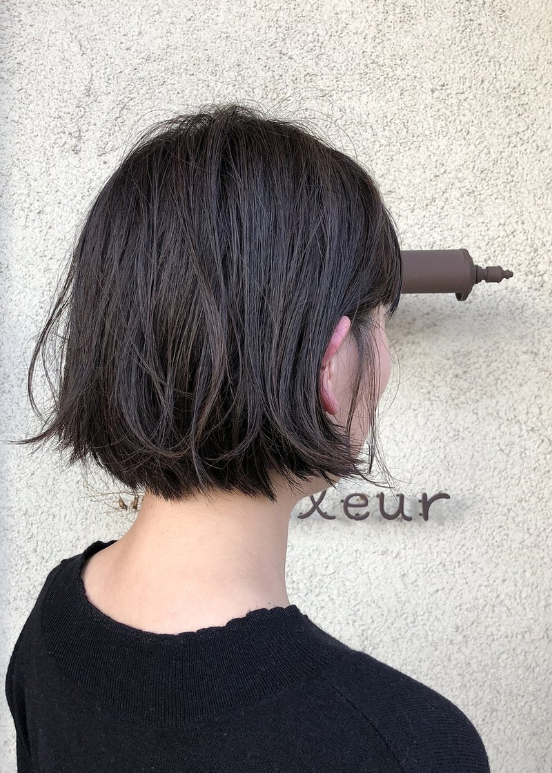 ぱなし っ ミニボブ 切り 【ボブ】切りっぱなしミニボブ/BEAUTRIUM 七里ヶ浜の髪型・ヘアスタイル・ヘアカタログ|2021春夏