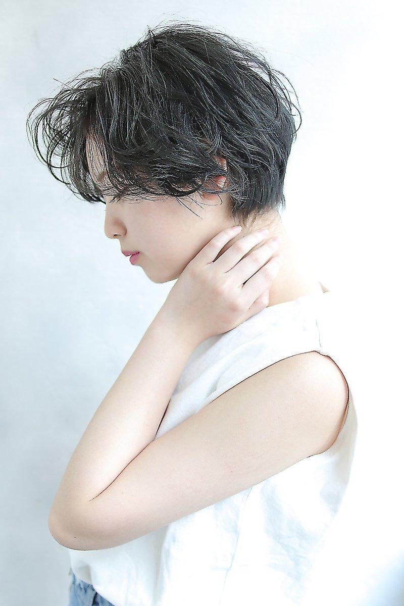 【Blanc/目黒】ショートヘア_デジタルパーマ_グレージュボブ