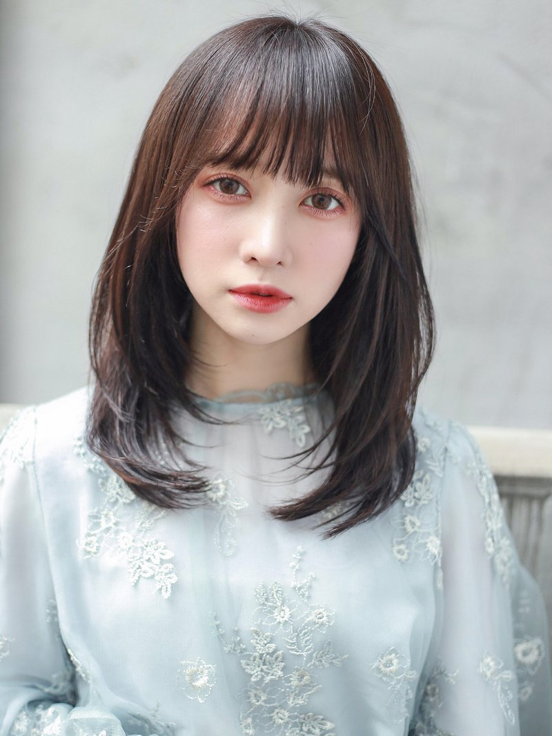 【U-REALM otto】暗髪美人ワンカール韓国風レイヤー 石塚