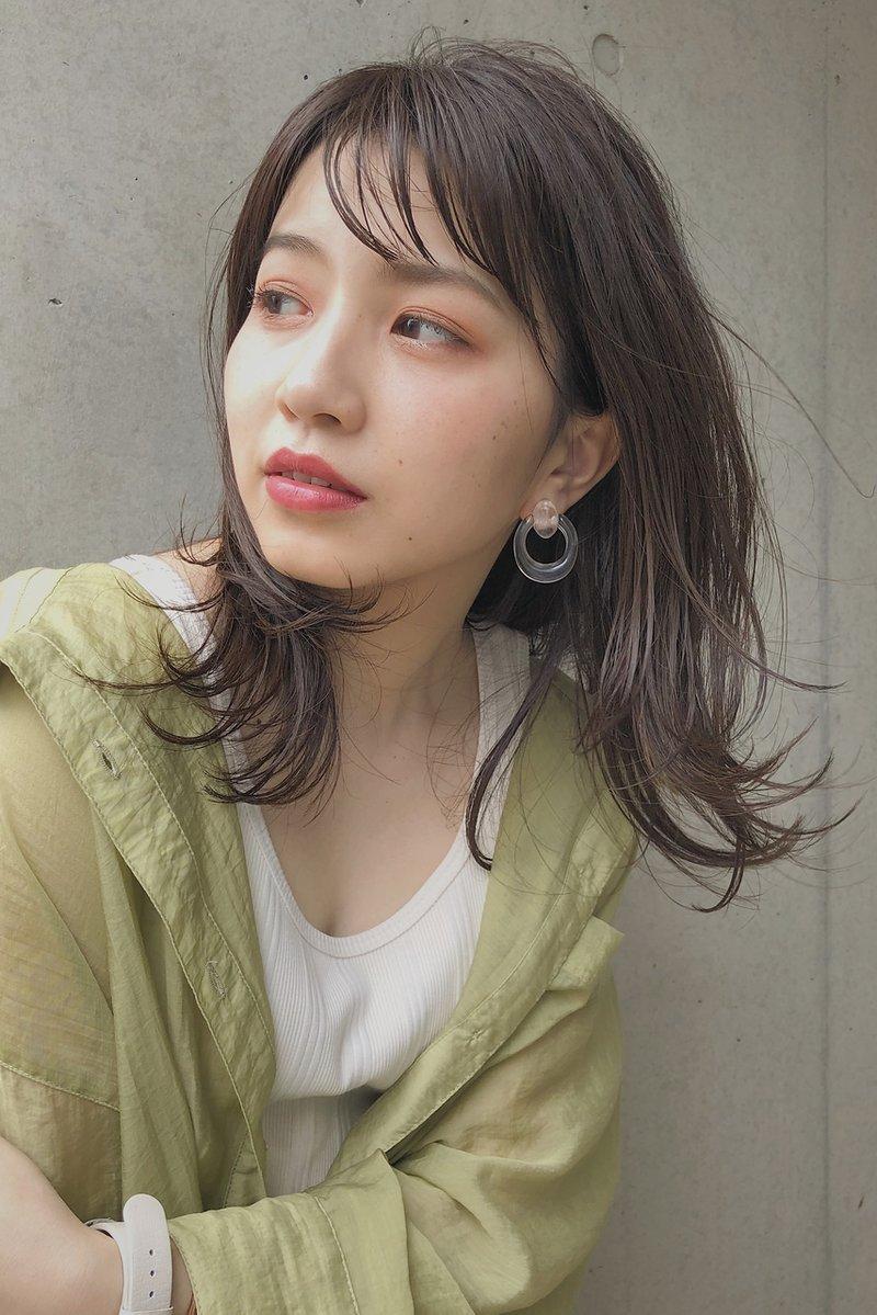 zenko吉祥寺chere 外ハネくびれミディアムレイヤー