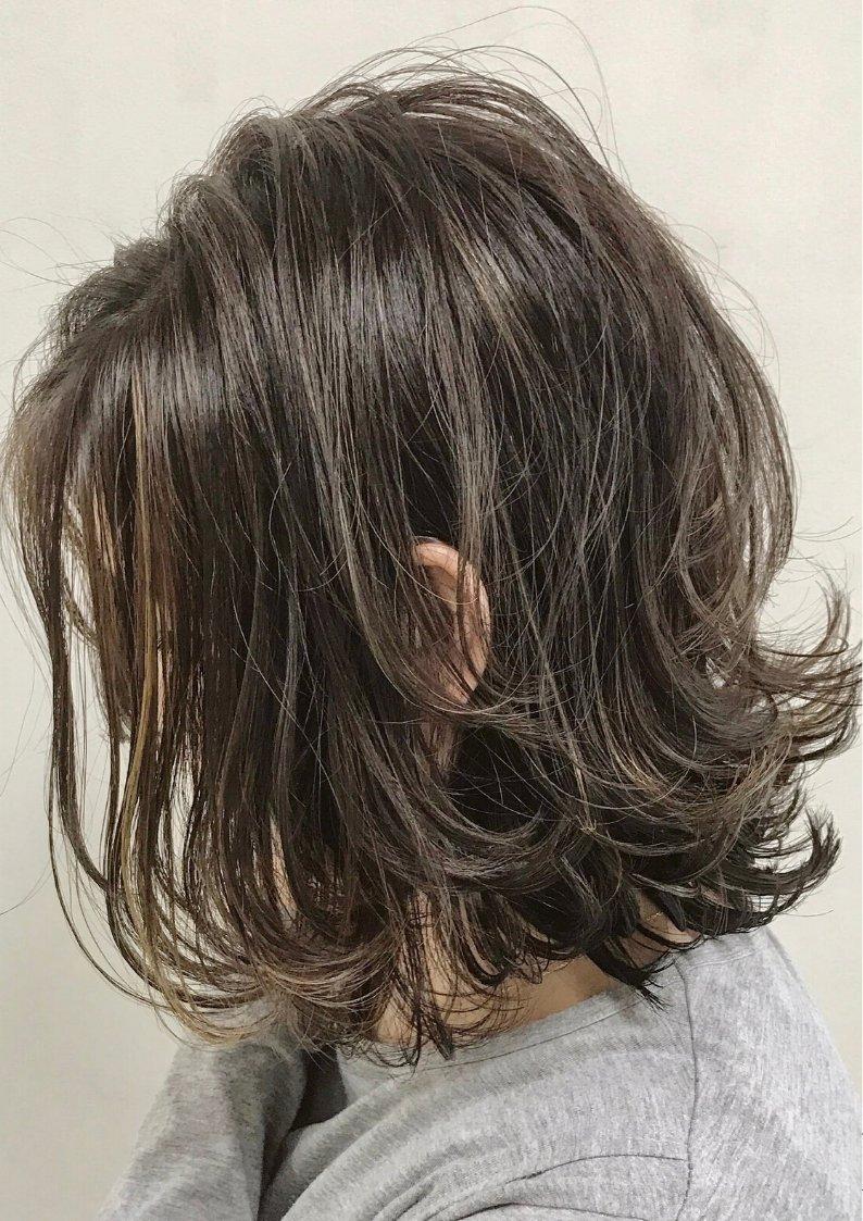 外ハネ/ローレイヤーボブ  youres hair 恵比寿 沢巳