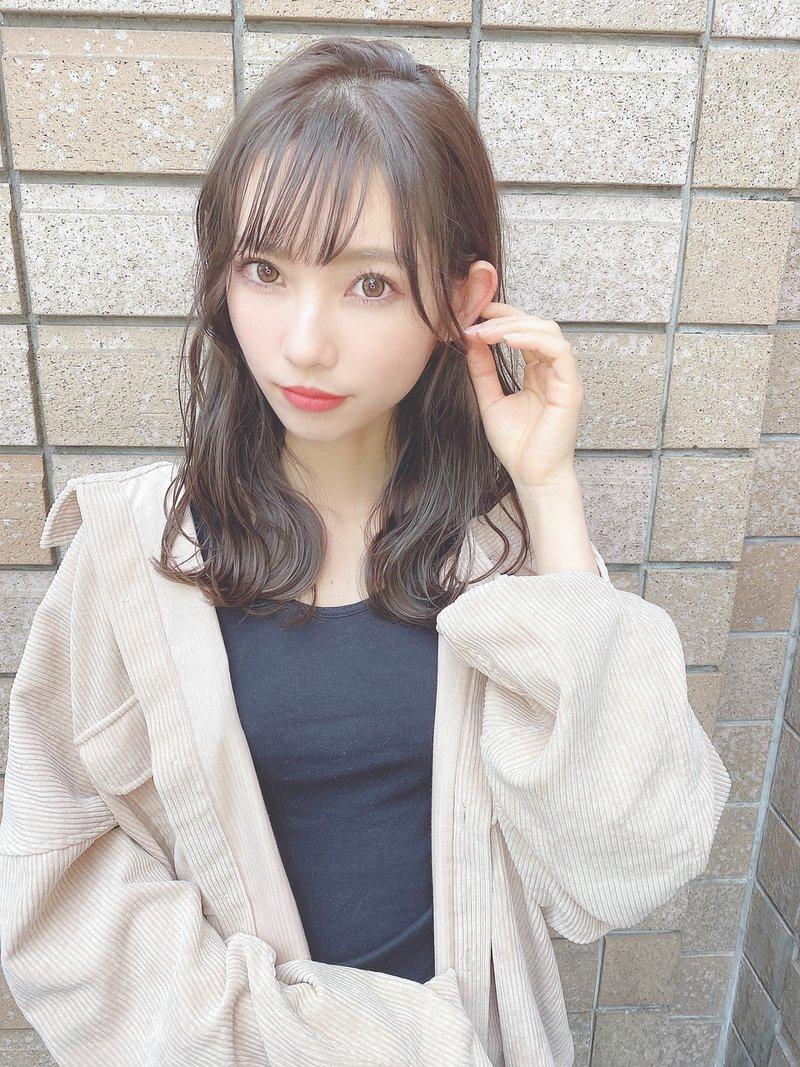 【AMAN D'OR鍬本】透け感のあるミルクティーグレージュ/モテ髪