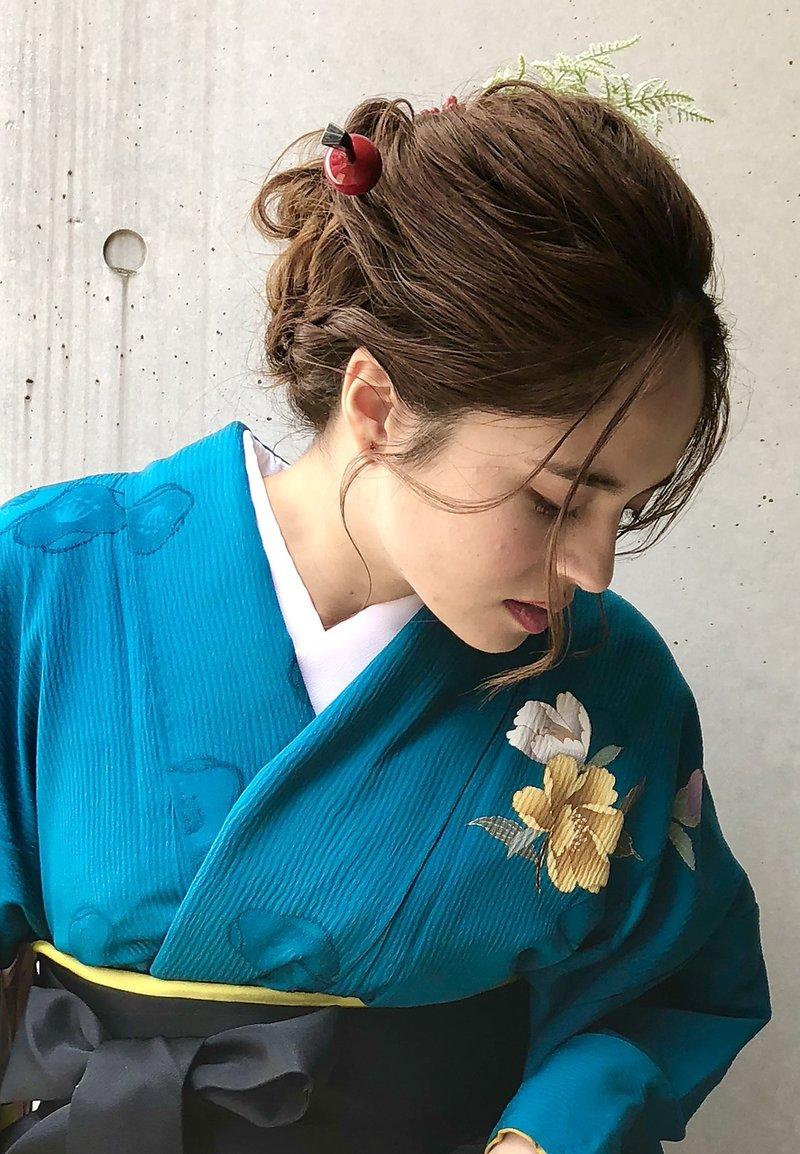 卒業式 成人式 袴 振袖 着付け ヘアアレンジ シニヨン