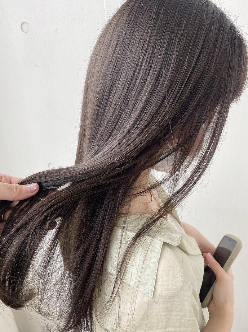 FESS鶴丸【スモーキーグレージュ×大人かわいい】ナチュラルヘア