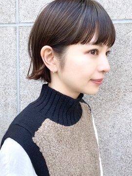 【December】大人かわいい 小顔 黒髪ボブ ミニボブ 外ハネボブ