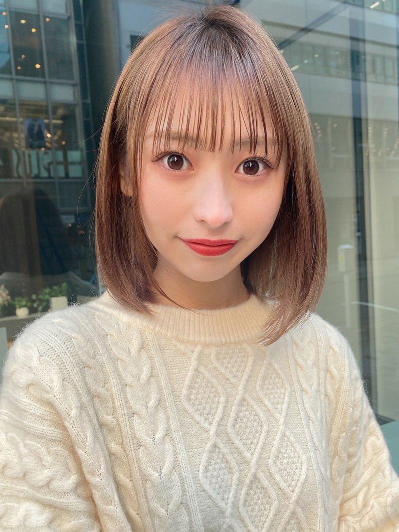 【Lond  damaskRose】柴田知亜希 サラツヤなハイトーンボブ☆