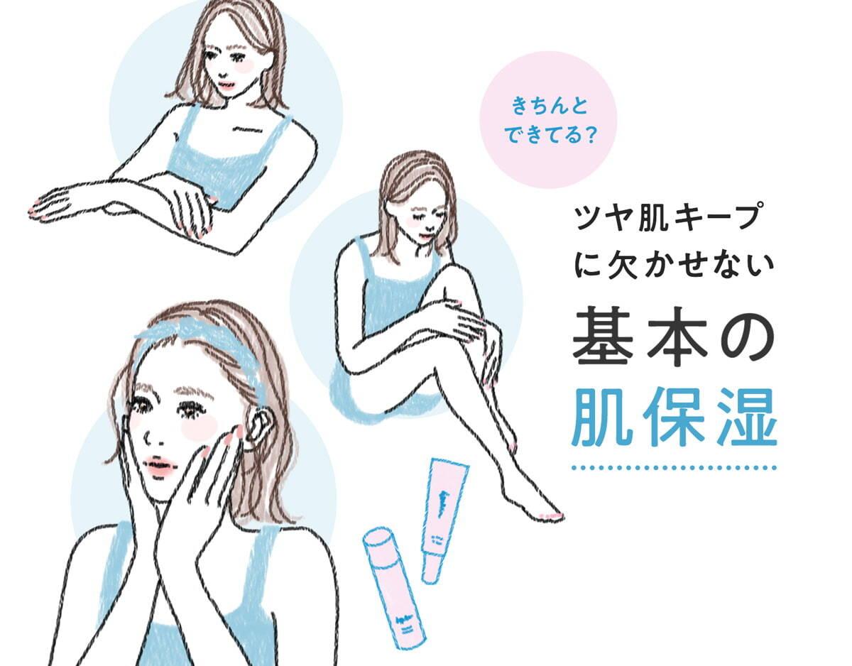 うるツヤへ導くお肌の保湿ケアTIPS!乾燥に負けない素肌を作るケアポイント