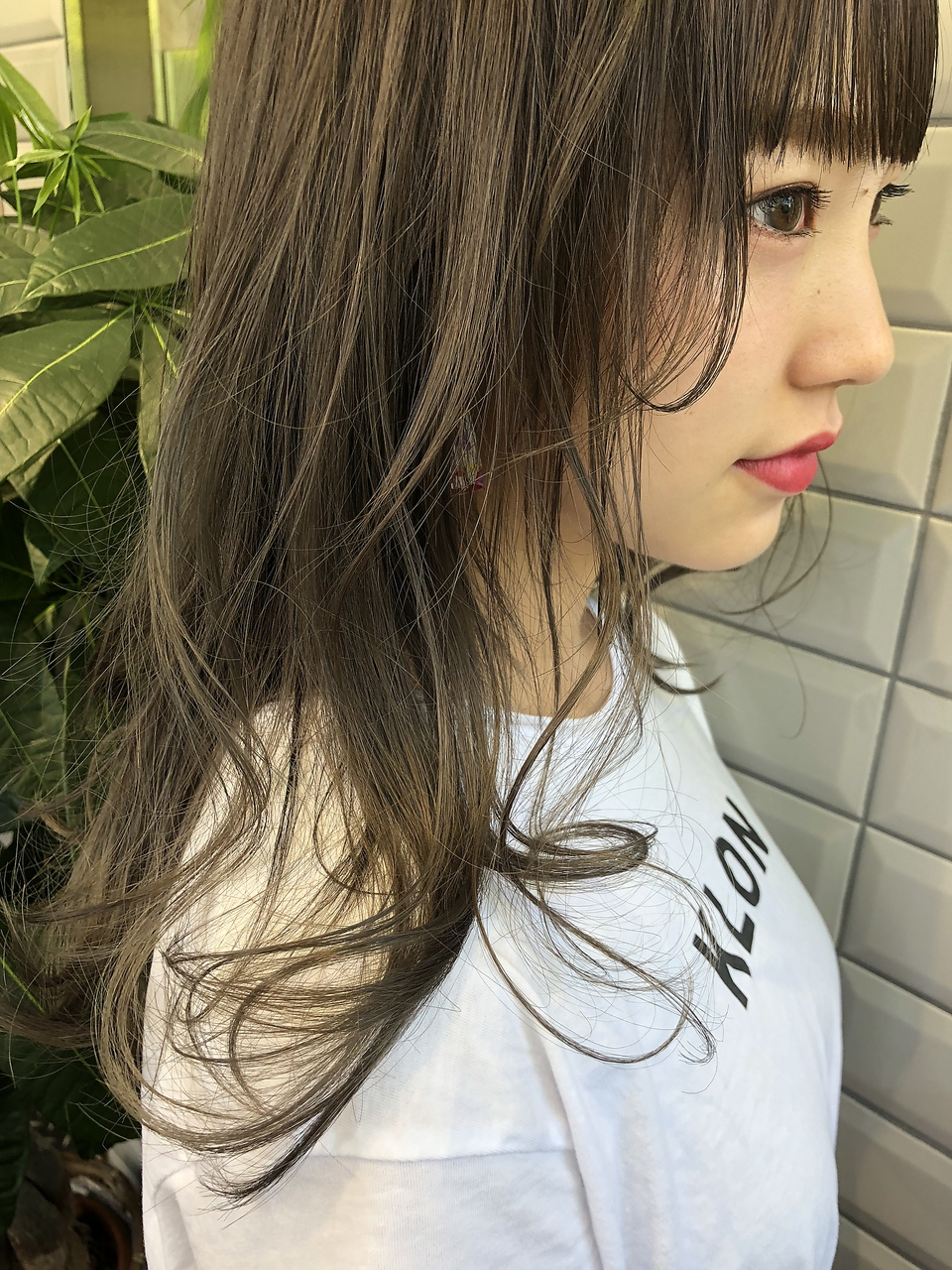 【lilley 石橋輝一】ぷっつり前髪×ミントアッシュグレー 天神