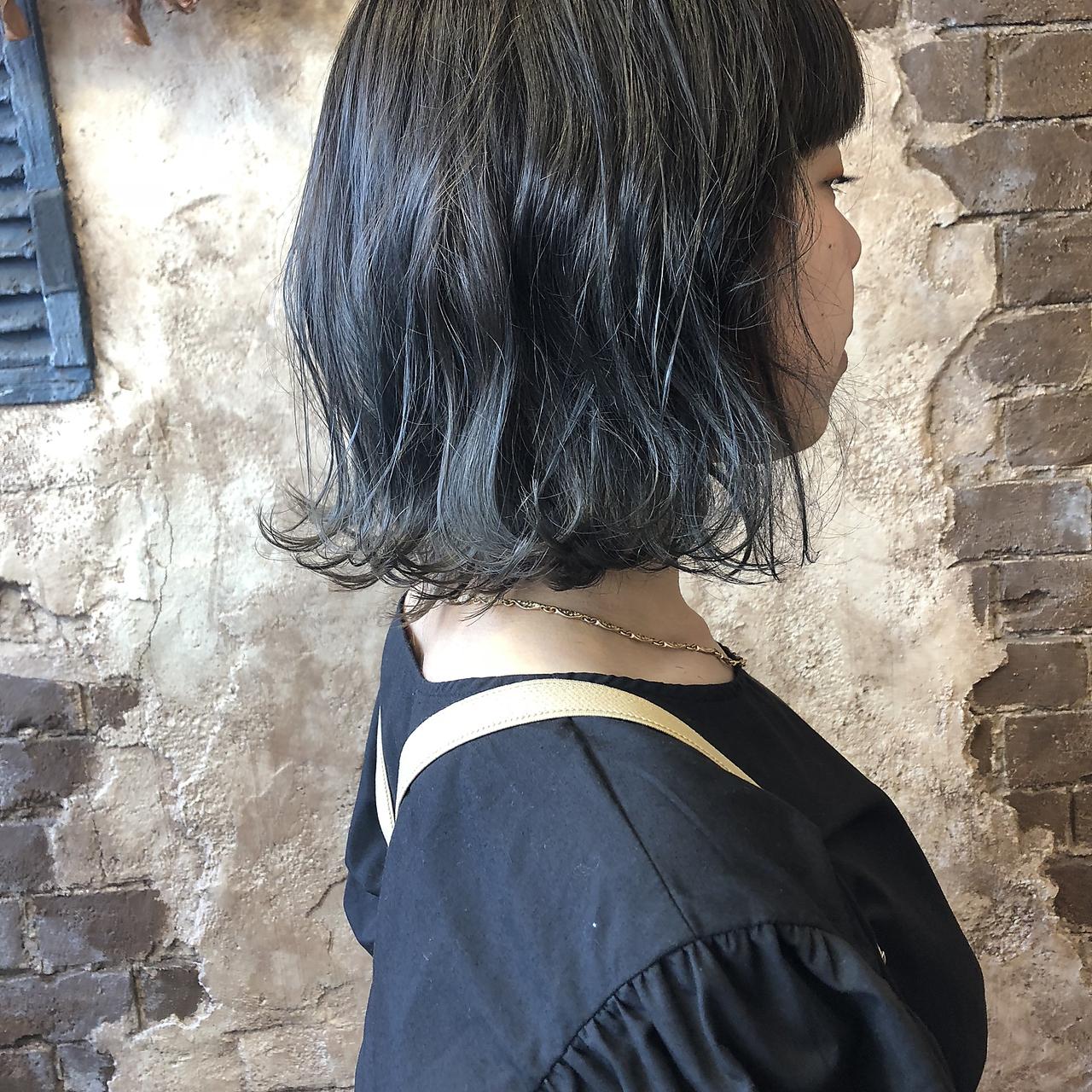[magiy hair yumoto] 切りっぱなしボブ N.カラー