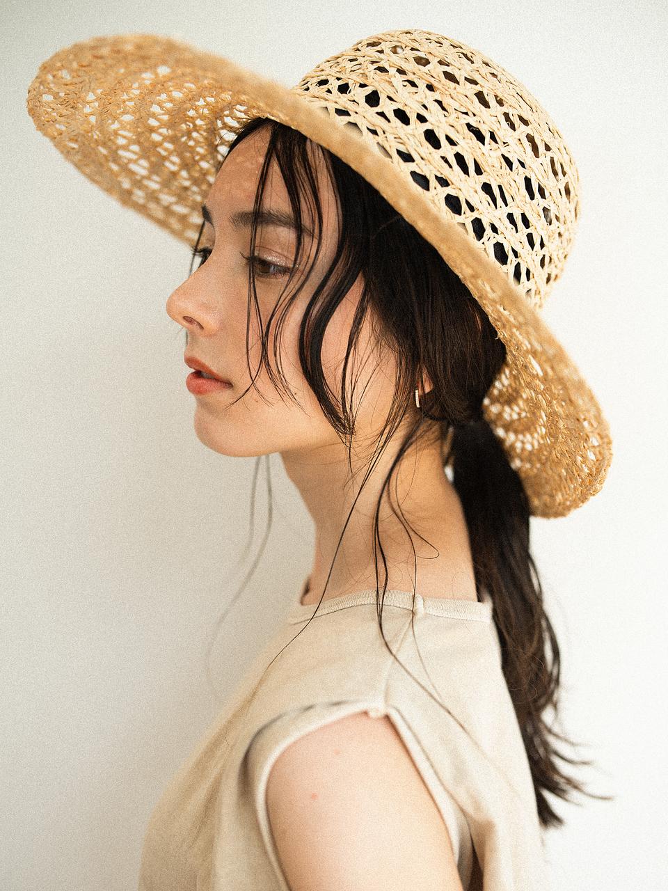 【Violet】麦わら帽子×ヘアアレンジ