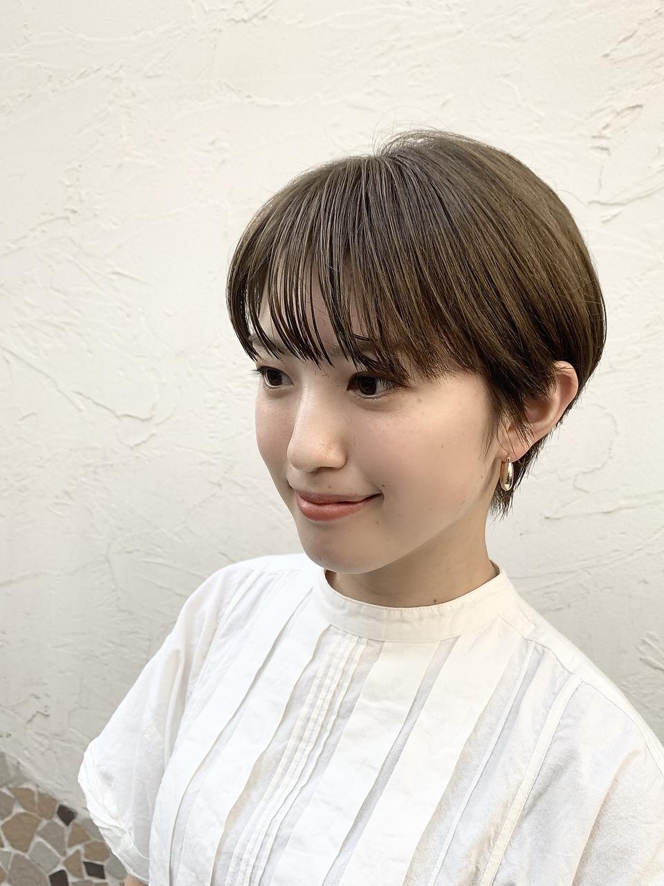 【graceヤマザキシンタ】ミントカラー ショート マッシュ