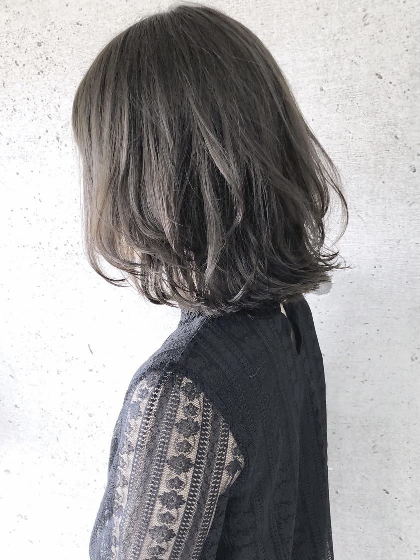 【 福岡 髪質改善 】【Day&Night】ハイライト×ミントグレー