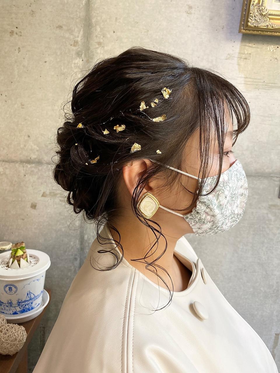 【Cadre新小岩】おくれ毛たっぷり金箔シニヨン【小林亜美】