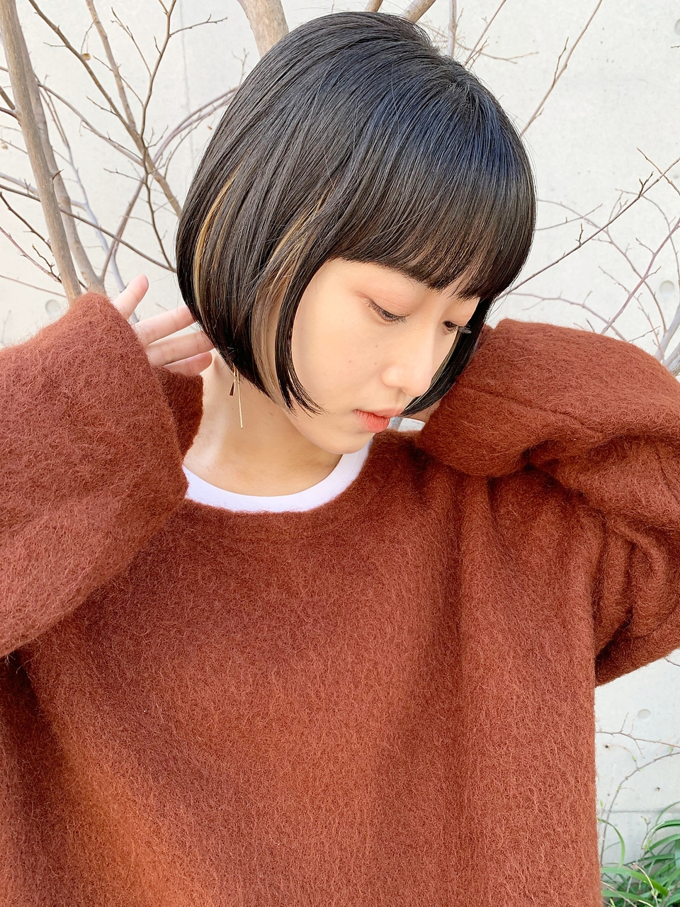 インナーカラーbob/シースルー前髪【EIZO 松下】