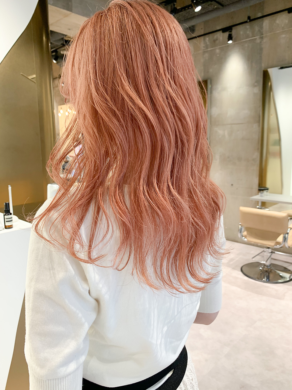 【yoke×RYO】ピンクオレンジベージュ/コーラルベージュ
