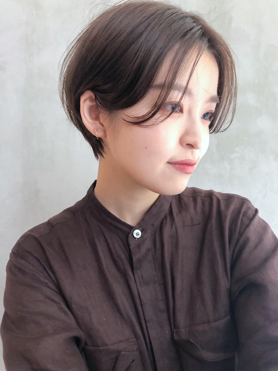 マッシュショート_かきあげロングマロンベージュ_8126